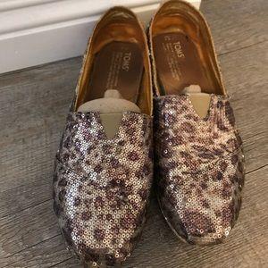 Toms Neiman Marcus exclusive leopard sequin flats